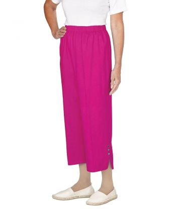 Pantalons Capri Adaptés en Coton pour Femmes - Pantalons Capri Adaptés aux Chaises Roulantes