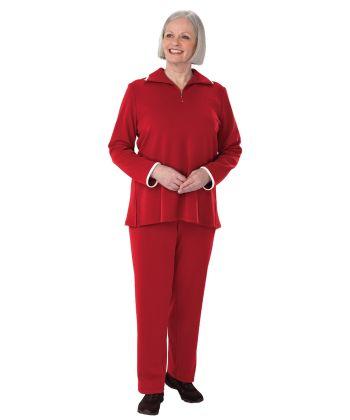 Vêtement adapté ensemble pour femmes - Ensemble coordonné pour femmes - Pantalon avec ouverture à l'arrière - Vêtement pour adultes handicapés