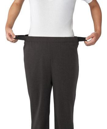 Pantalon femme adapté pour chaise roulante avec bandes