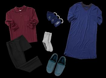 Kit habillage assisté pour homme en maison de soins (collection classique)