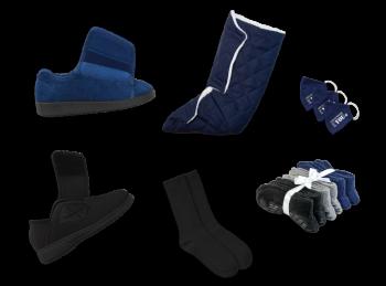 Kit chaussures intérieures & extérieures pour hommes diabétiques (marine)