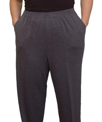 Pantalon taille Petite en tricot d'hiver pour femmes - Taille élastique