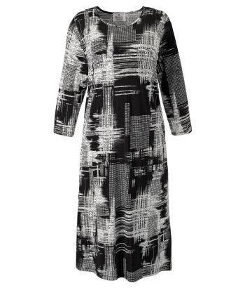 Robe adaptée élégante avec ouverture au dos pour femmes - manche longues 3/4 et 2 poches