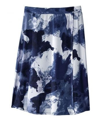 Magnifique jupe portefeuille ajustable - Jupe pour l'arthrite à fermeture à bande autoagrippante