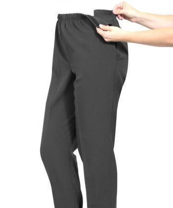 Pantalon adapté pour femme arthritique - fermetures par bande auto-grippante