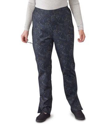 Pantalon fermeture éclair pour femme et aimant au bas