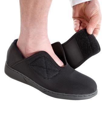 Chaussures extra larges pour hommes - Chaussures bande auto-agripantes pour pieds enflés