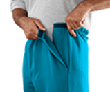 Side opening VELCRO® pants for arthritis
