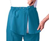 Open back adaptive pants