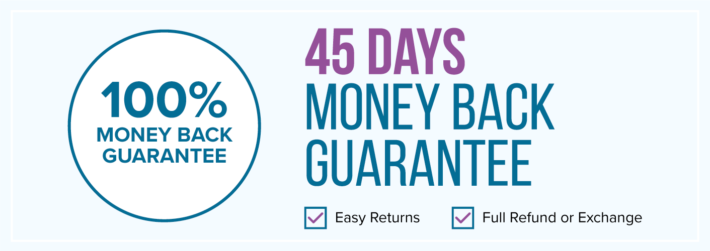 60 Days Money Back Guarantee - Easy Return - Full Refund or Exchange - With No Risk