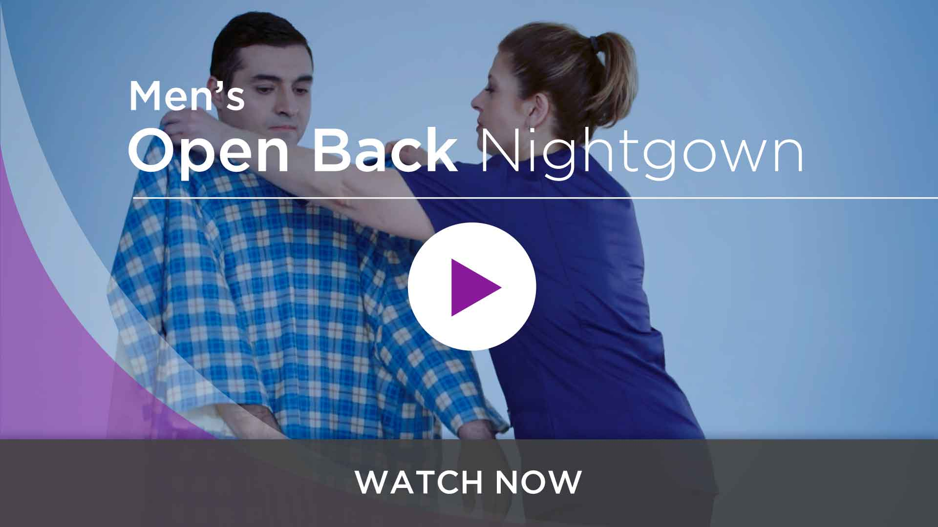 Men's Adaptive Hospital Nightgowns