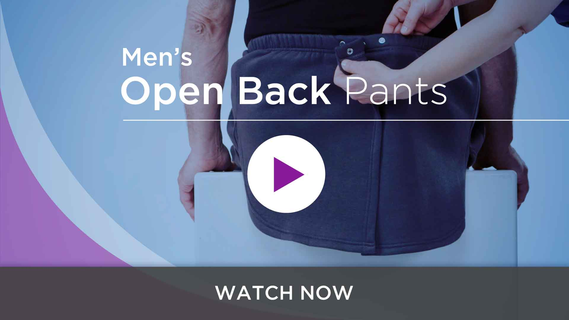 Men's Adaptive Open Back Pants