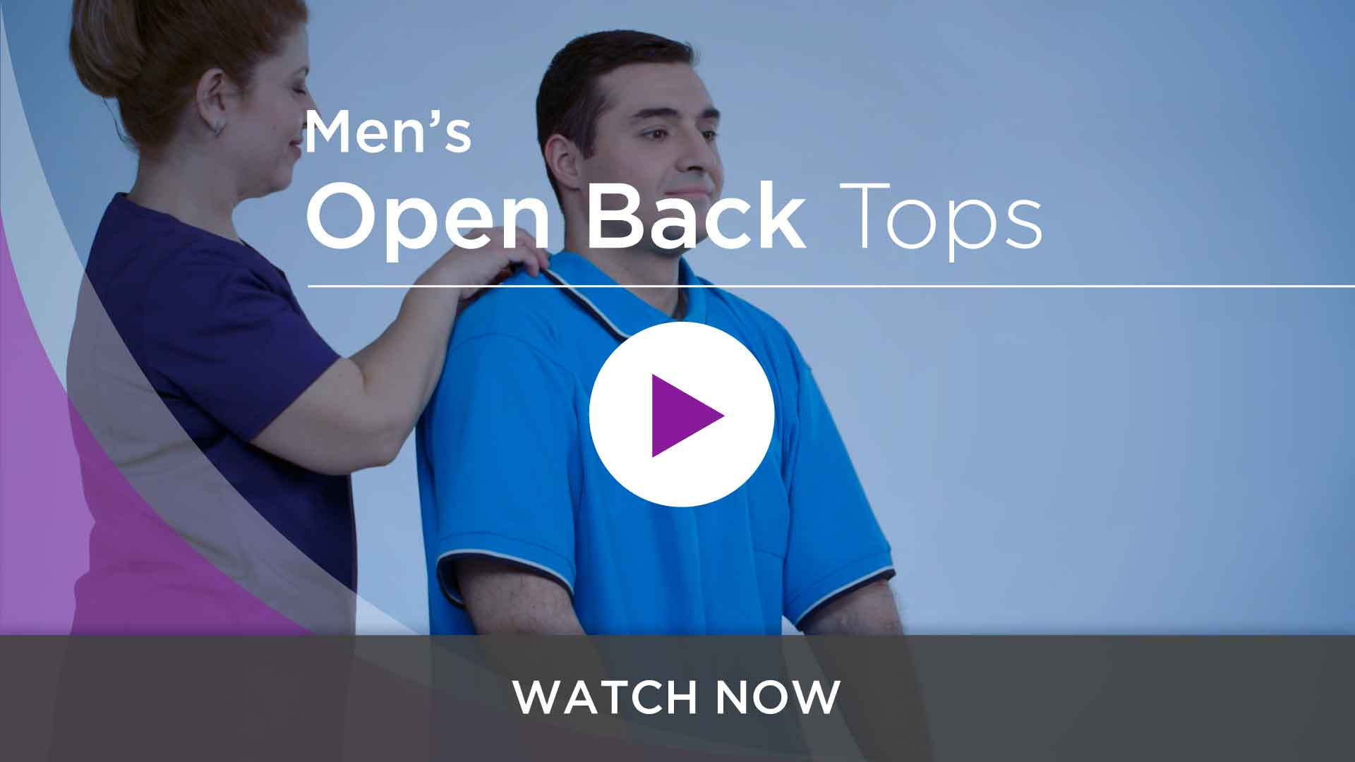 Men's Open Back Adaptive Tops