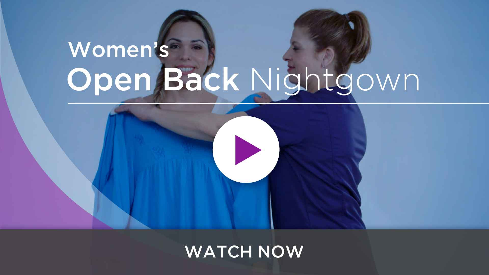 Women's Adaptive Hospital Nightgowns