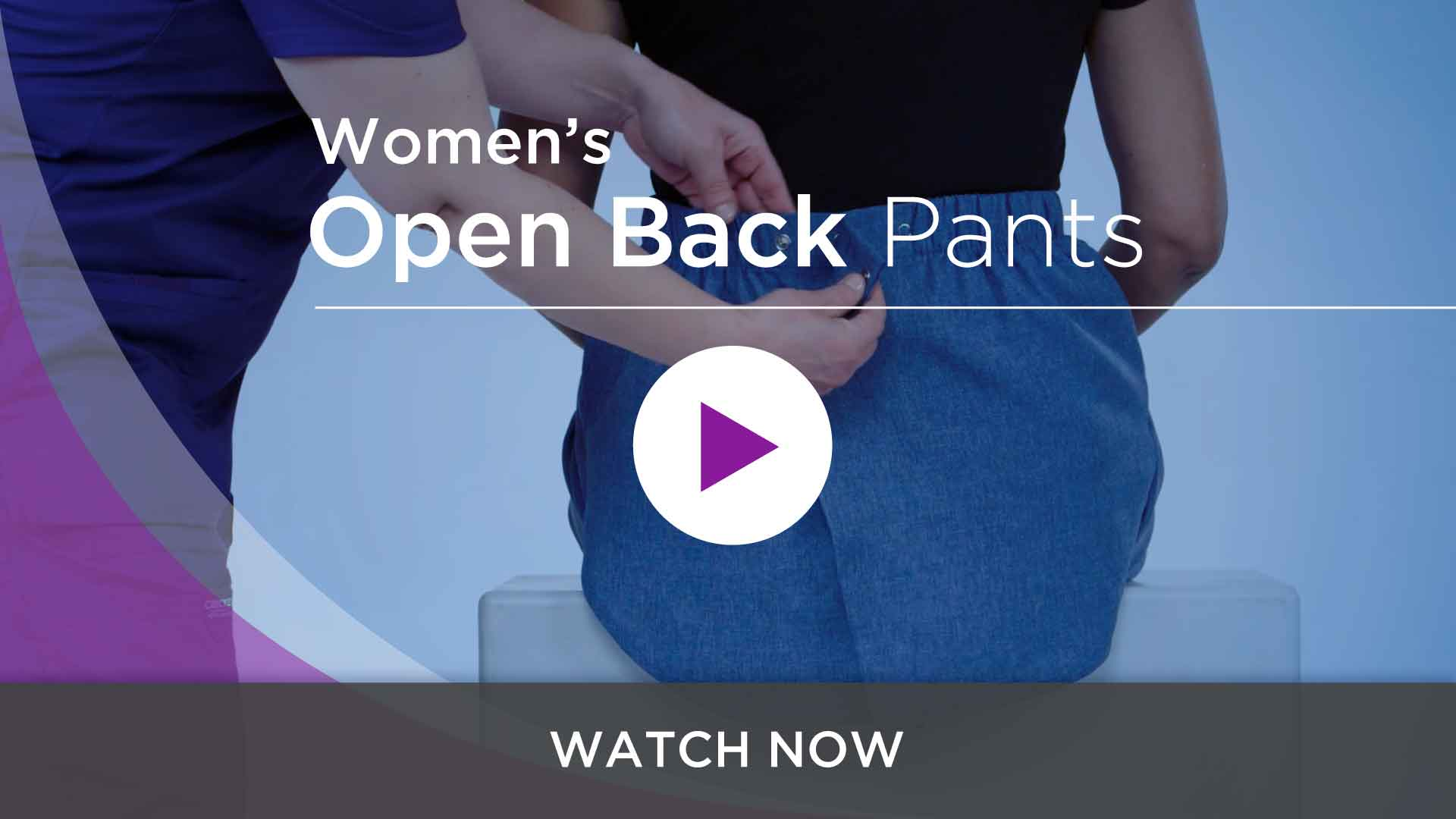 Women's Adaptive Open Back Pants