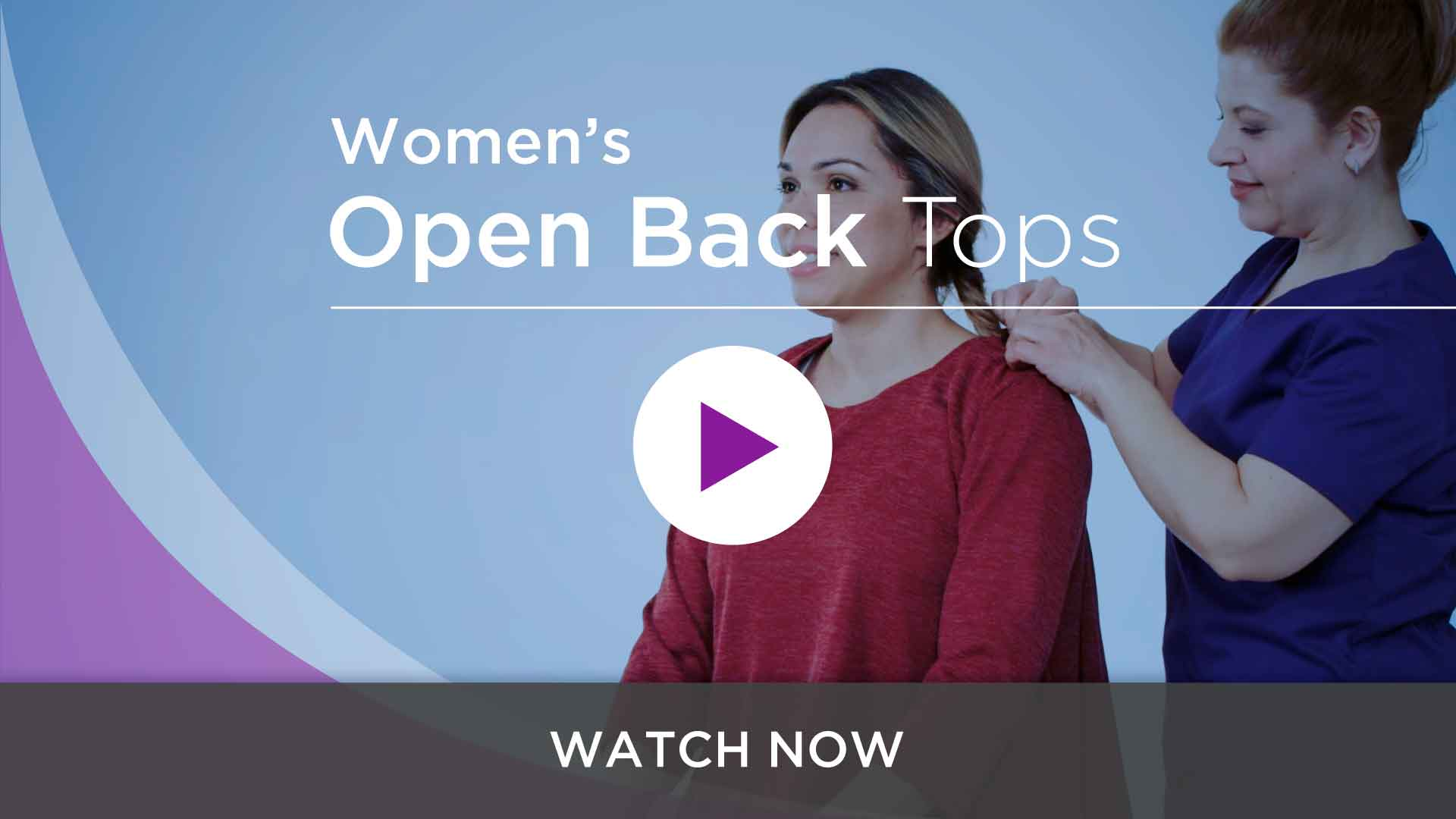 Women's Open Back Adaptive Tops
