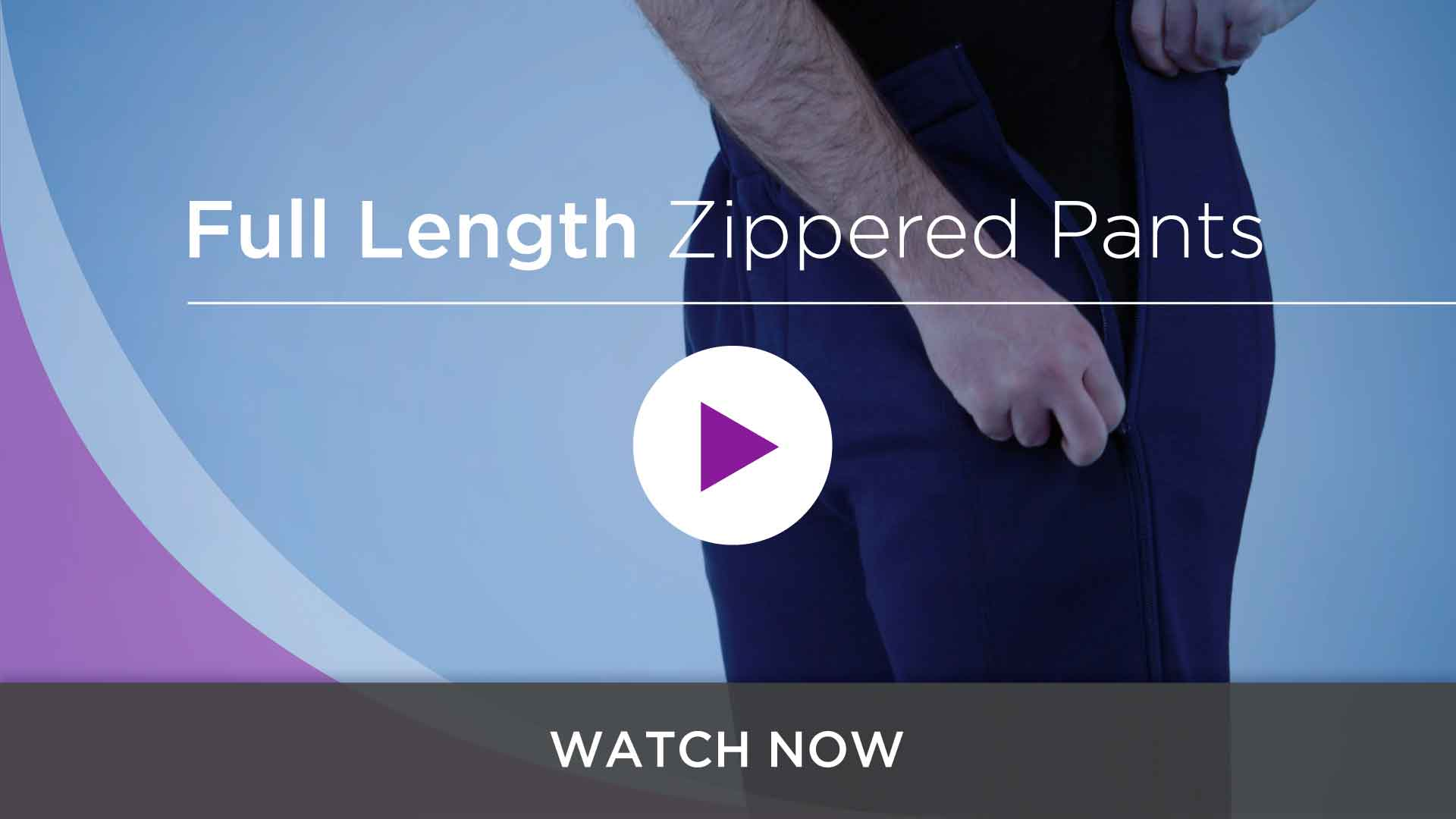 Women's & Men's Zipper Pants For Arthritis, Catheters and Paralysis