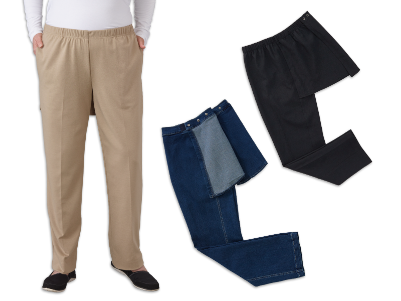 Women's Perfect Comfort Assisted Dressing Pants Set of 3