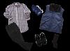 Men's Nursing Home Care Self Dressing Kit (Navy Collection)