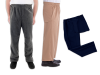 Men's Dress Easy Everyday Assisted Dressing Pants Set of 3
