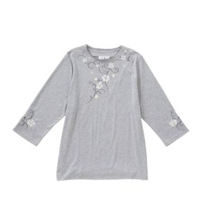 Womens Embroidered Open Back Cotton Top