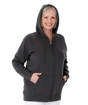Womens Magnetic-Zipper Hoodie with Pockets