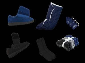Men's Indoor & Outdoor Cozy Diabetic Footwear Kit (Navy Collection)