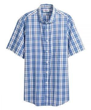 Magnetic Buttons Mens Short Sleeve Shirt