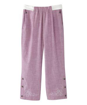 Women's Self Dressing Easy Zip Linen Capris