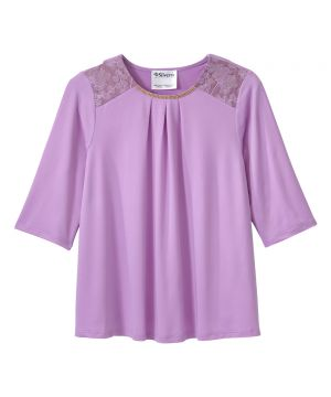 Women's Open Back Top with Lace Detail