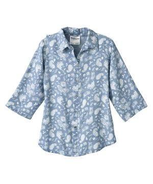 Women's Open Back 3/4 Sleeve Blouse