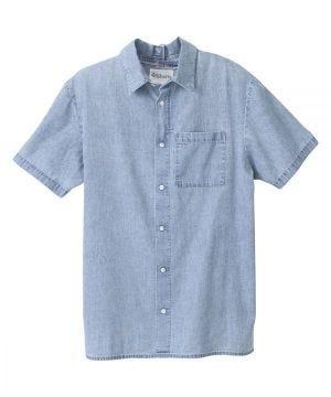Men's Adaptive Open Back Short Sleeve Dress Shirt