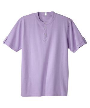 Men's Adaptive Open Back Henley T-Shirt