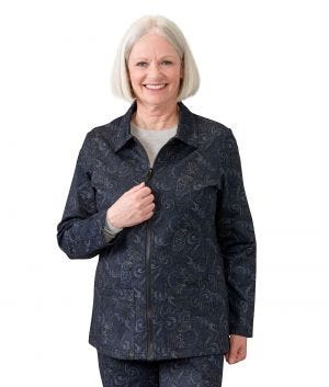 Women's Magnetic Zip Front Jacket