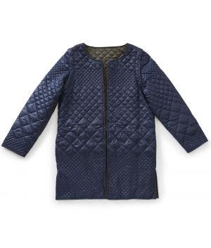 Womens Reversible Quilted Jacket with Detachable Sleeves