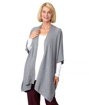 Womens 3 In 1 Poncho Shawl Scarf