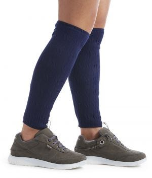 Womens and Mens Leg Warmer Protector Cable Sweaterknit