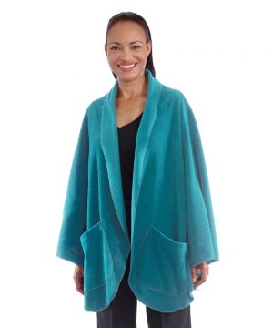 Cozy Fleece Pocket Capes for Women