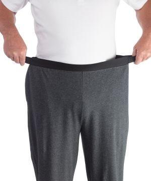 Mens Arthritis Easy Grip Wide Leg Pull On Pants