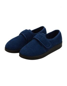 Men's Wide Antimicrobial Adjustable Slippers