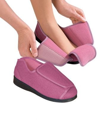 Womens Extra Extra Wide Slippers