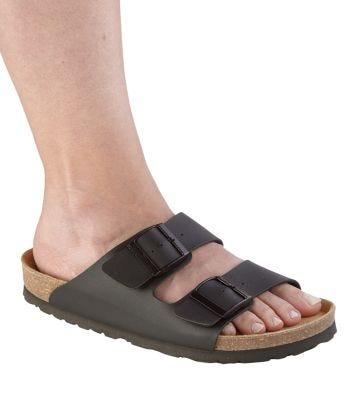 Sandal Corkbed 2 Straps  in Black