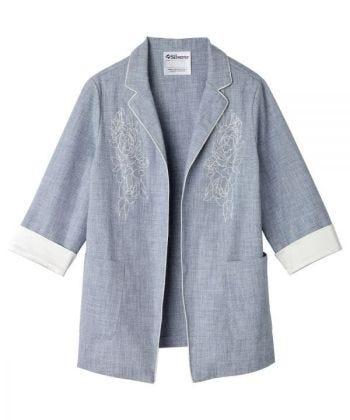 Women's Embroidered Linen Blazer