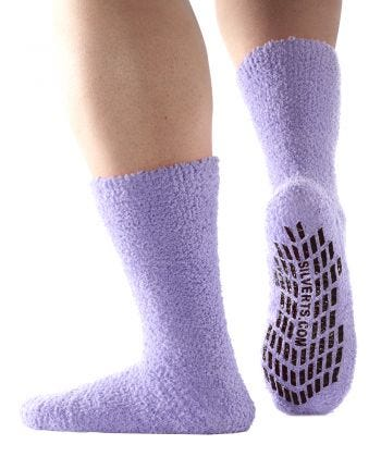 Best Gripper Hospital Socks Men & Women - Slipper Socks Lavender