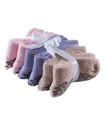 Unisex Hospital Slipper-Grip Socks - 6 Pack