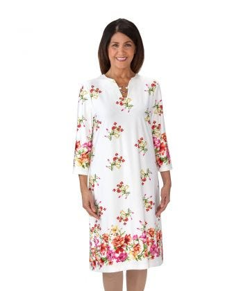 Floral Charm Open-Back Wheelchair Dress For Women