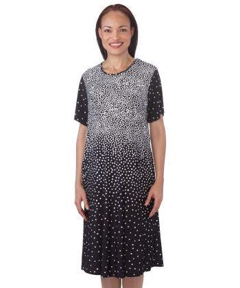 Flowy Short Sleeve Adaptive Open Back Dress