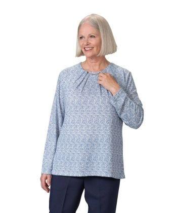 Women's Long Sleeve Open Back Sweater Knit Top - Clearance