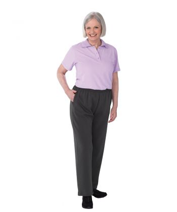 Womens Dementia Alzheimer's Anti Strip Jumpsuit Mauve/Gray