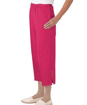 Women's Self Dressing Easy Access Cotton Capris